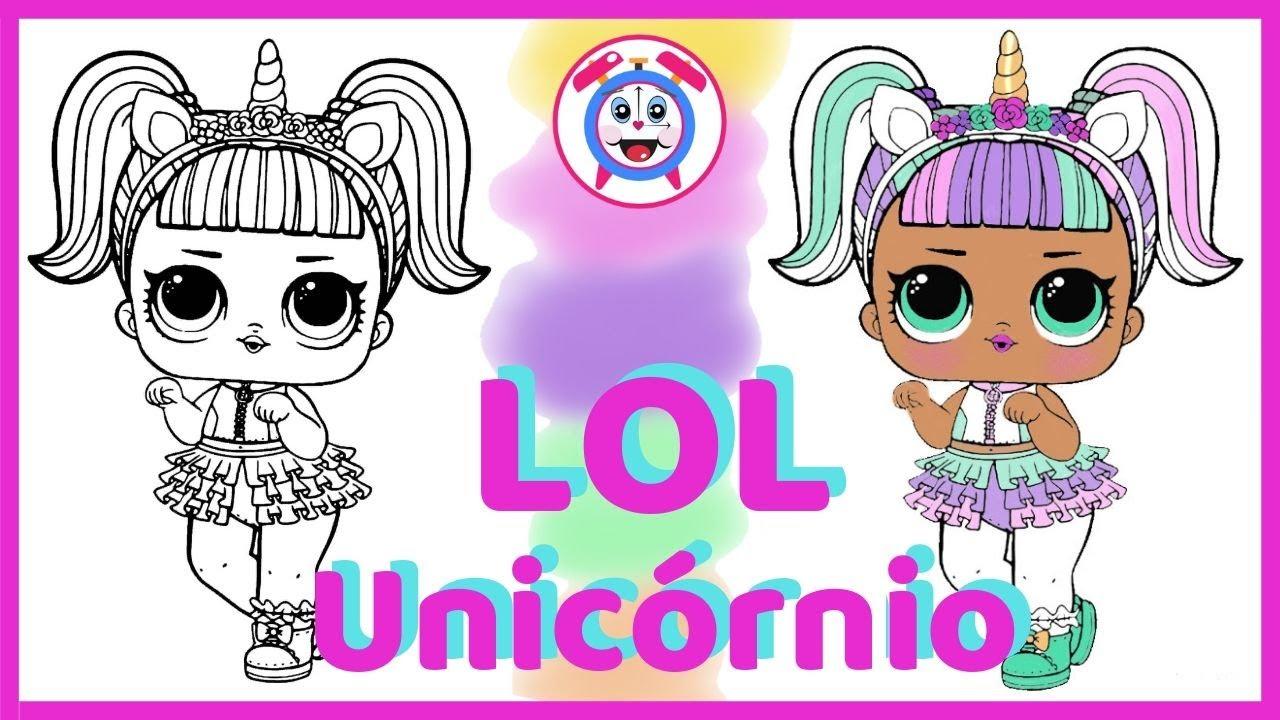 Colorir Desenho Da Boneca Lol Unicornio Aprender As Cores Em