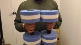 Aquatic Exercise Dumbbells - For Water Aerobics Pool weights Review DO they WORK