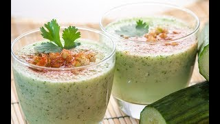 How To Make A Chilled Cucumber Soup With Coconut Milk