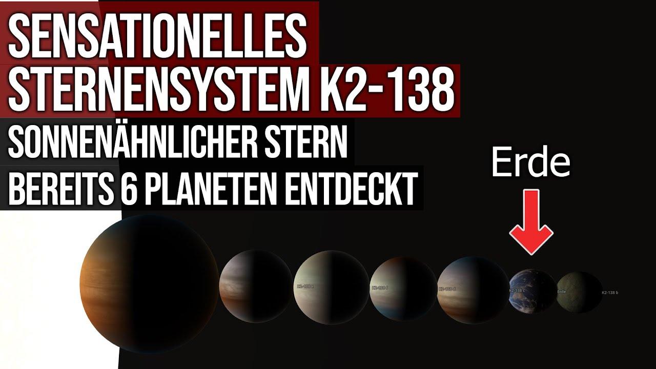 Sensationelles Sternensystem K2-138 - Sonnenähnlicher Stern - Bereits 6 Planeten entdeckt
