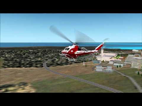Hovercontrol Bell 412-ER short flight around V.C.Bird Int. Airport