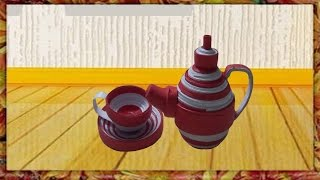 Paper Quilling : How to make quilling coffee cup with Jar