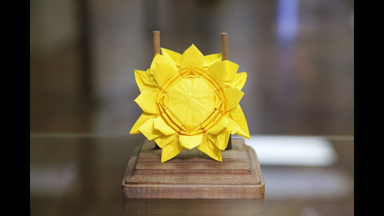 Origami Sunflower Tutorial Tim Rickman Youtube