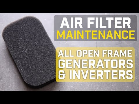 Champion Help Center: Open Frame Generator Air Filter Cleaning And Replacement