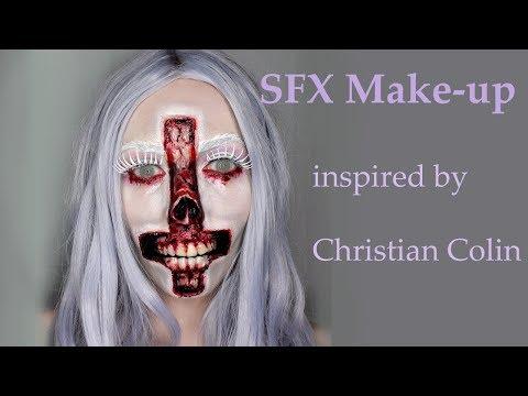 Satan, Skull SFX Make-up  / cross upside down / horror make-up