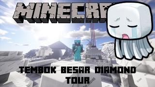 """TEMBOK BESAR DIAMOND TOUR"" Noob Survival Minecraft Indonesia Extra #11"