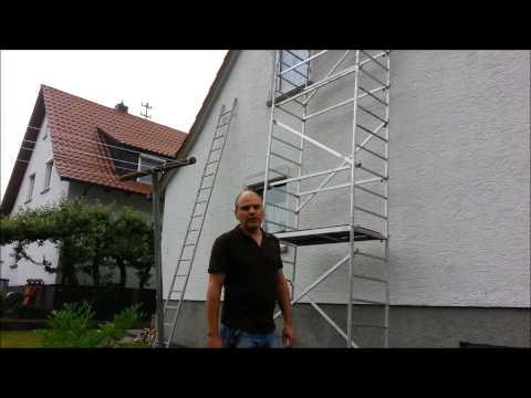Fassade Am Haus Reinigen Und Streichen