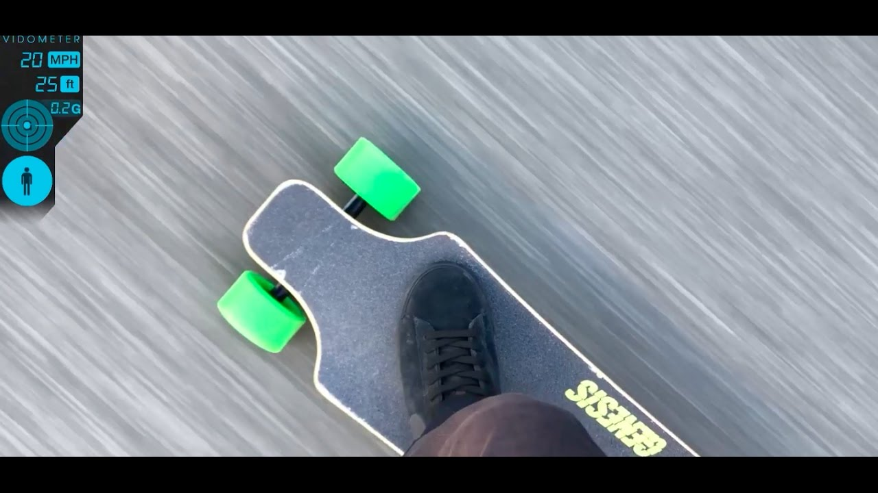 Vidometer Speed Test  Genesis Electric Skateboard Easily Hits 20 MPH  YouTube