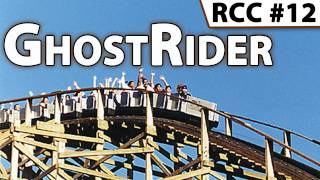 GhostRider Roller Coaster -- Front Row POV @ Knott