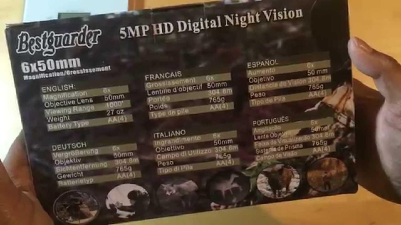 Bestguarder 6 x 50 digital nachtsichtgerät 350m reichweite 5fach