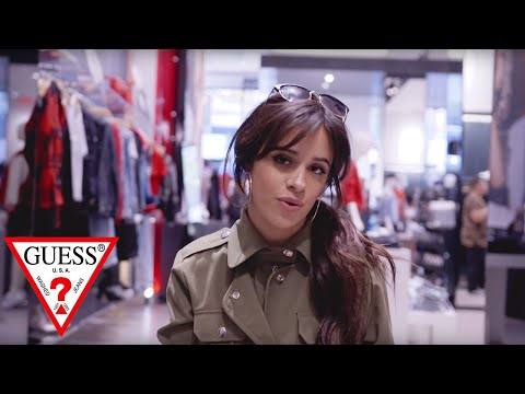 Camila Cabello styling her fans at GUESS 5th Avenue in New York City
