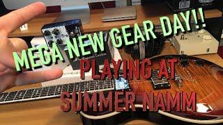 Mega New Gear Day & Playign At Summer NAMM! ( WIN A GUITAR)