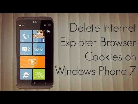 Delete Internet Explorer Browser Cookies On Windows Phone 7 - PhoneRadar