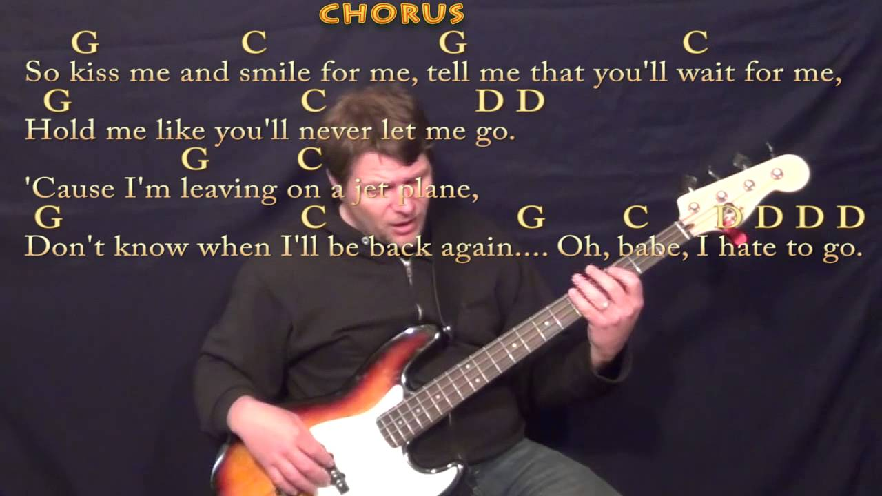 Leaving on a jet plane john denver bass guitar cover lesson with leaving on a jet plane john denver bass guitar cover lesson with chords lyrics hexwebz Gallery