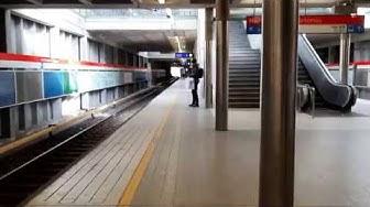 Ride in Helsinki metro - Herttoniemi (Hertonäs) station (metroasema) - 19.03.2019