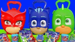 PJ Masks Unboxing: Catboy, Owlette & Gekko Überraschungs Pyjamahelden & Mashems für Kinder