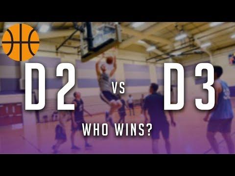 D2 COLLEGE BASKETBALL TEAM VS D3 TEAM