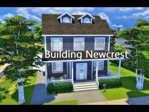 Building Newcrest Lot 4 l Perfect Family Home l The Sims 4 l Speed Build