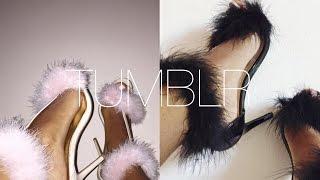DIY| Faux Fur Tumblr Heels! | Feather Heels