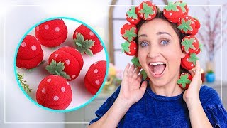 NO-HEAT CURLS with Strawberries?!? | Fab or Fail | Cute Girls Hairstyles