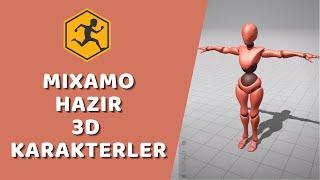 Adobe Mixamo - Hazır 3D Karakterler ve Animasyonlar