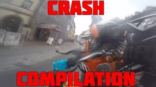 KTM Duke 125 - CRASH Compilation [HD]