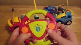 Prextex Çizgi film R/C Polis Arabası ve Yarış Arabası Radyo Kontrol Oyuncaklar