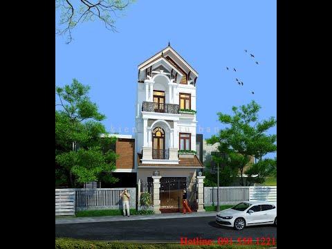 Thiết kế nhà phố 3 tầng 1 tum mặt tiền 5m chị Trinh - Hải Phòng