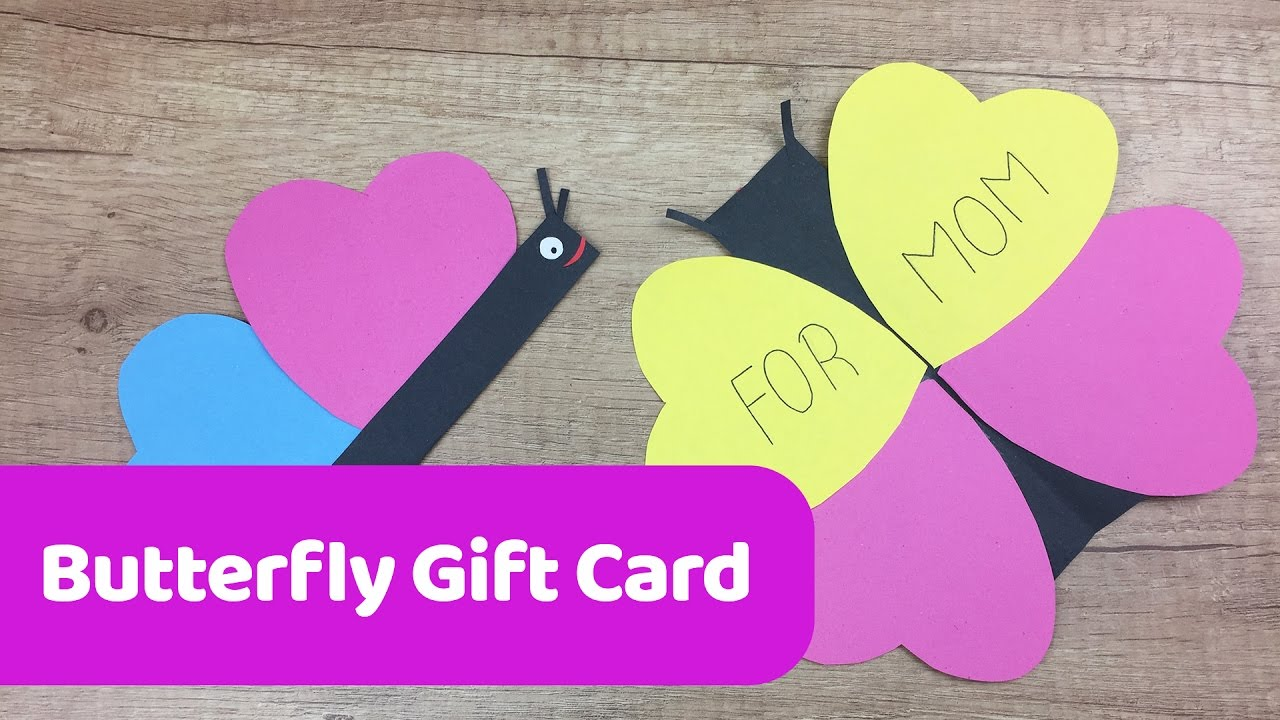 How to make easy BUTTERFLY gift card for Mothers day Simple DIY