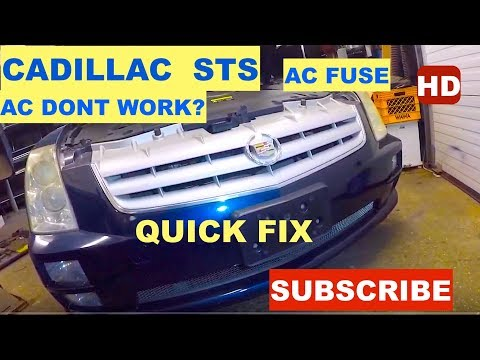 Cadillac sts AC Dont Work, Fuse Blown, Quick Fix DIY