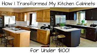 How I Transformed My Kitchen Cabinets for Under 100!