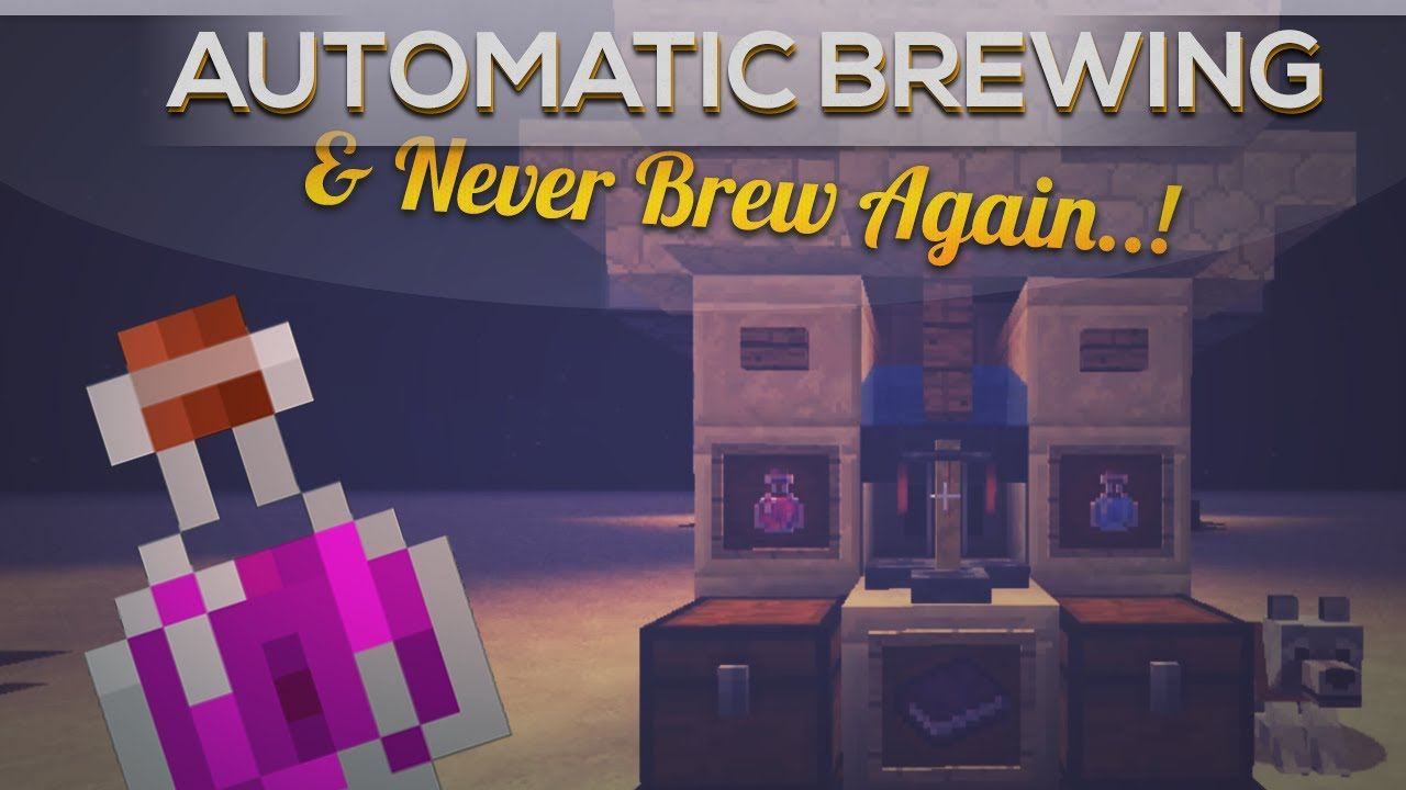 Automatic Potion Brewing In Minecraft 1 6 2 Youtube