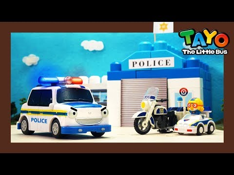 Police Car Pat And The Police Station L Heavy Vehicles Lego Play L Tayo The Little Bus