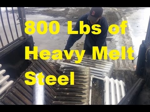BIG load 800 lbs Heavy Melt Steel, Awesome eBay Sales & What sold
