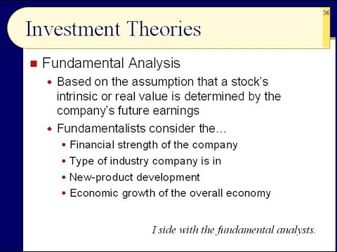 BUS121 Chapter 12 - Investment Theories; Stock Strategies - Slides 36 to 47