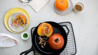 Beef & Couscous Stuffed Pumpkin