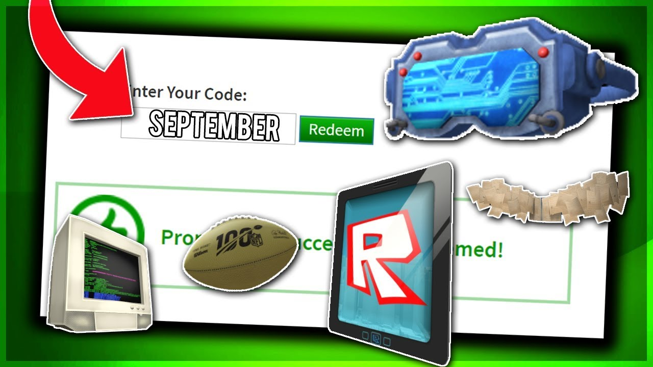 September All Working Promo Codes On Roblox 2019 Roblox Promo