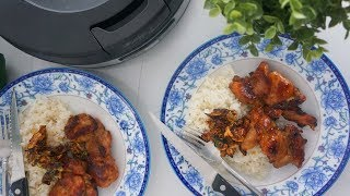 Jn Baked Oyster Sauce Chicken with chicken Flavored Rice ft  The Crispy Rice Cooker