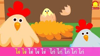เพลงไก่กับไข่คาราโอเกะ | ก ไก่ | ABC | นับเลข | เพลงเด็กภาษาอังกฤษ by indysong kids