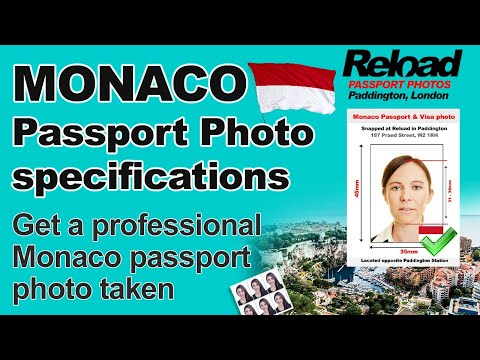 Monaco Passport Photo and Visa Photo snapped in Paddington, London