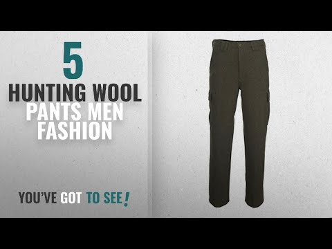 Top 10 Hunting Wool Pants [Men Fashion Winter 2018 ]: Woolrich Men's Wool Cargo Hunting Pant, OLIVE