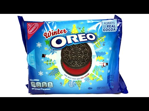 winter oreos limited edition unwrapping youtube