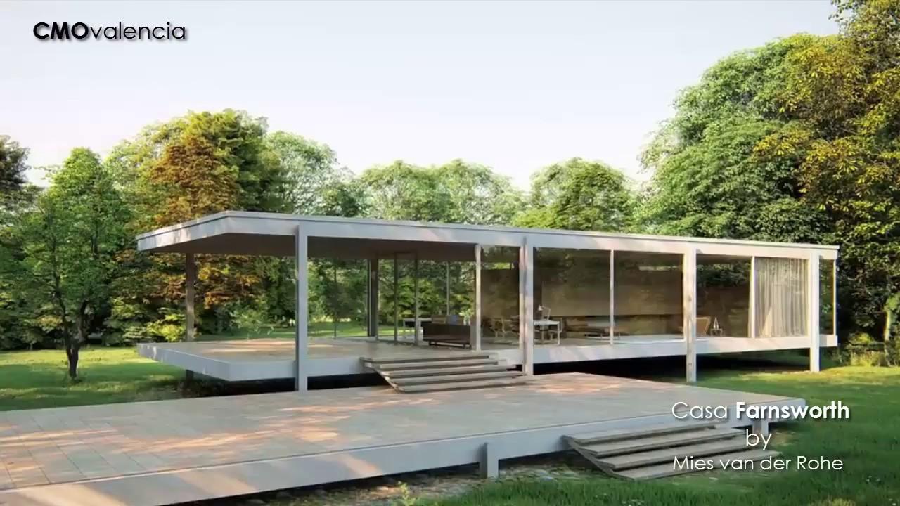 Homenaje lean construction a la casa farnsworth mies for Casa minimalista de mies van der rohe