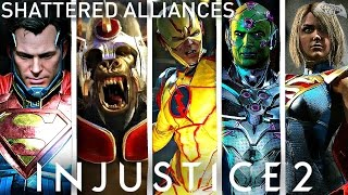 Injustice 2 - ALL Shattered Alliances Trailers! (1080p 60fps HD)