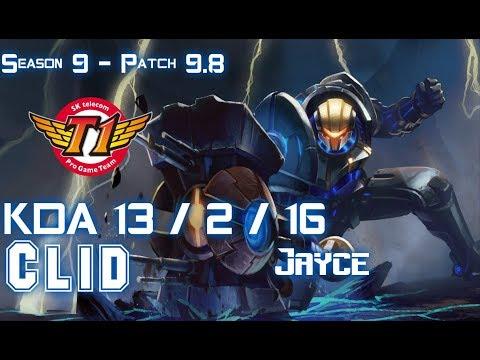 SKT T1 Clid JAYCE vs REK'SAI Jungle - Patch 9.8 KR Ranked