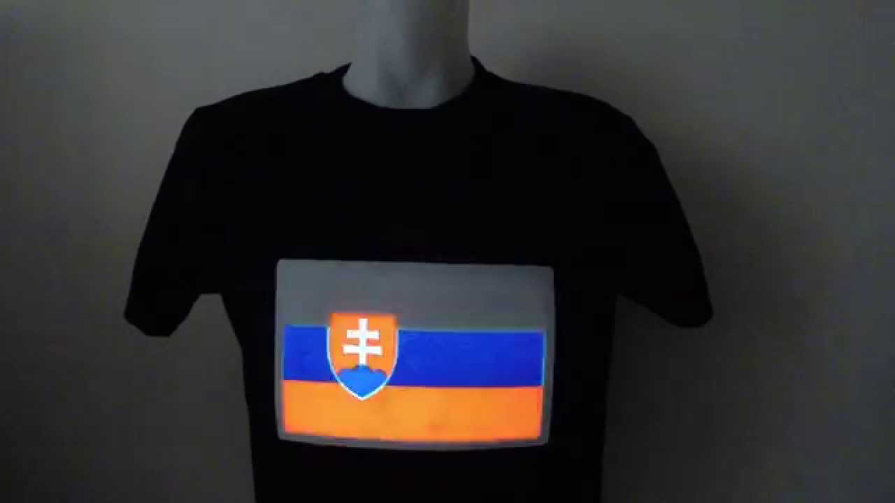 d3b49753f457 LED tričko Svietiace - Slovensko (www.cool-mania.eu) - YouTube