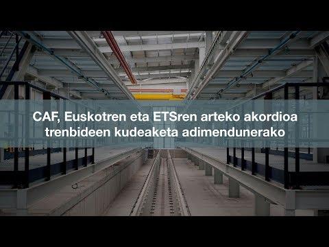 CAF, Euskotren eta ETSren arteko akordioa trenbideen kudeaketa adimendunerako