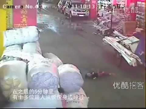 2 Year Old Chinese Kid, Hit and Run in China
