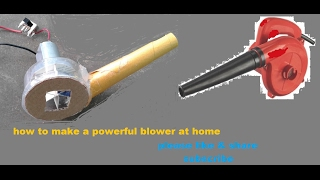 how to make a mini powerful air blower  || how to make a blower at home