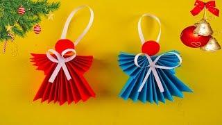 Как Сделать АНГЕЛА ИЗ БУМАГИ. Рождественский Ангелочек Своими Руками. Оригами из бумаги. Origami